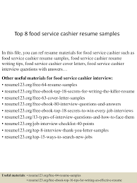 collection of solutions cover letter sample food server with