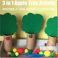 3 in 1 apple activities for preschool