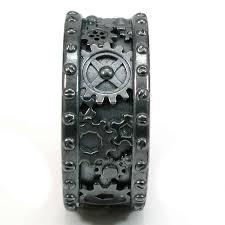 gear wedding ring steunk wedding rings steunk black silver gear ring steam