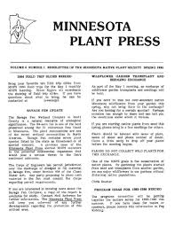 minnesota native plant society download spring 2006 minnesota plant press minnesota native
