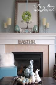 Easter Decorating Ideas For The Home Easter Decorating Ideas Decorate A Simple Easter Mantel A Pop