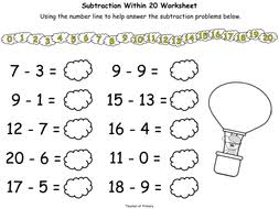 up up and take away subtracting numbers to 20 by teacher of