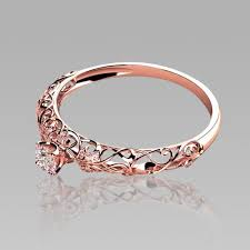 silver and gold engagement rings gold engagement rings retro cutout sterling silver s