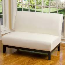Bonded Leather Loveseat Darcy Bonded Leather Loveseat Ivory Christopher Knight Home Target