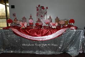 silver red u0026 pink valentine candy buffet