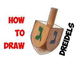 hanukkah dreidels how to draw a dreidel for hanukkah chanukah easy step by step