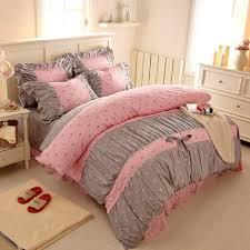Ruffled Bed Set Shop Sweet Print Bedding Sets Korean Ruffled