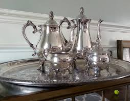 engraved silver platter newport gorham silver plate tea set silver coffee and tea service