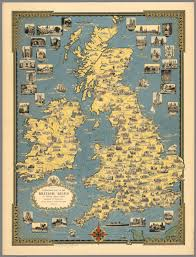 Map Of The British Isles A Pictorial Map Of The British Isles David Rumsey Historical Map