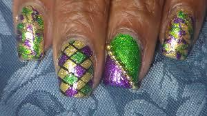 mardi gras material easy mardi gras nail