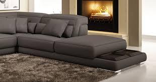 m canapé deco in canape d angle en cuir gris grissom grissom gris 3 m