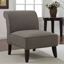Armless Accent Chair Accent Chair Slipper Brown Derby Armless