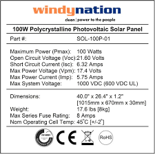 amazon com windynation complete solar 100 watt panel kit 100w