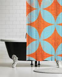 Vintage Shower Curtain Boho Modern Shower Curtain Retro Shower Curtains Ubu Republic