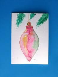 watercolor card no 218 ornament greeting card
