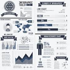 Resume Vector Corporate Infographic Resume Elements Data Template On White