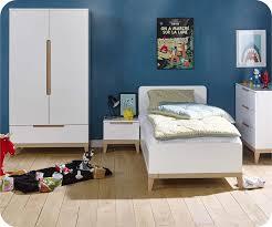 meubles chambre enfants enfant riga blanche et bois set de 4 meubles