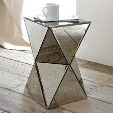 Antique Side Tables For Living Room Antique Decoration Living Room With West Elm Faceted Mirror Side