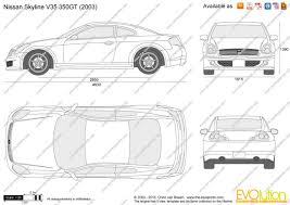nissan skyline drawing the blueprints com vector drawing nissan skyline v35 350gt