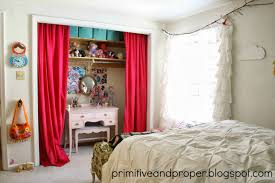 closet behind bed vintage eclectic bedroom