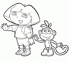 incredible dora and boots coloring pages pertaining to encourage