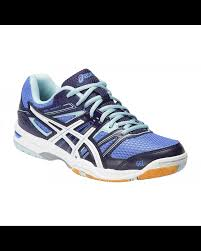 gel rocket 7 powder blue women u0027s court shoes