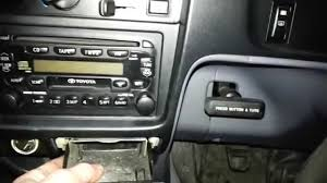 how to remove the factory radio from a toyota hilux youtube