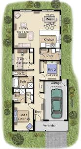 Narrow Block Floor Plans 1662 Best House Plan Images On Pinterest Garage Plans Floor