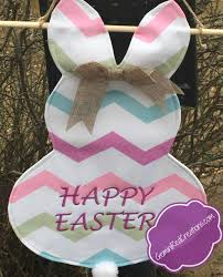 personalized easter bunny personalized canvas easter bunny garden door flag geminired
