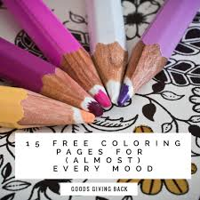 15 fun and interesting coloring pages for almost every mood