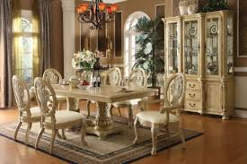 Dining Room Tables White by Elegant Formal Dining Room Sets 6 Chairs And Flowers Vase On Table