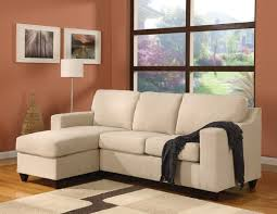 living room small sofa with chaise lounge orange interior room