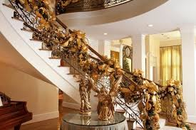 Christmas Railing Decorations Classy Stunning Christmas Staircase Decorating Ideas For Inspire