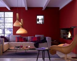 Burgundy Living Room Furniture by Living Room With Hanging Pendants And Burgundy Walls Burgundy