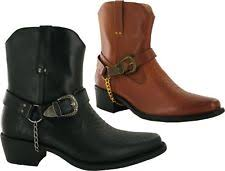 cowboy boots uk leather s zip cowboy synthetic leather boots ebay