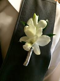 boutonniere flowers white orchid boutonniere flowers by steen