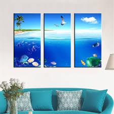 aliexpress com buy canvas painting oil print seascape beach fish