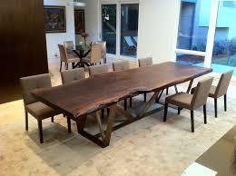 robert n wohlfeld inc walnut slab dining table with trellis base
