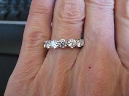 Wedding Ring On Right Hand by 5 Stone Ring Choice 1 25 Ctw G Vs2 Or 1 62 Ctw I Vs2 Stone