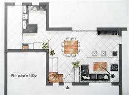 plan de cuisine ouverte sur salle à manger amnager une cuisine ouverte ct maison amenagement cuisine salon
