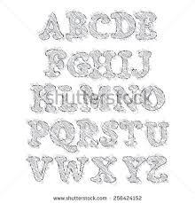 z capslock letter alphabet sketch style stock vector 256424152