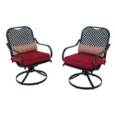 Hampton Bay Patio Set Home Depot by Hampton Bay Fall River Motion Patio Dining Chair With Chili