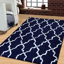 excellent navy blue and white area rugs superior moroccan lattice
