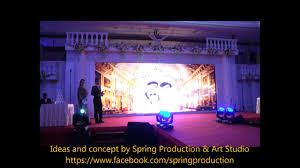 wedding backdrop led wedding groom appearance sliding led screen