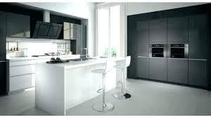 meuble haut cuisine noir laqué porte cuisine blanc laque meuble de cuisine noir et blanc buffet
