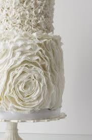 ruffle rose and pompom wedding cake cakecentral com