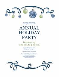 invitation cards for events sample holiday party invitation with ornaments and blue ribbon formal