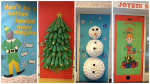 christmas door decorations for nursing home best images