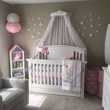 Princess Nursery Decor Canopy Bed With Jewels Free Sheers Bed Crown Canopy