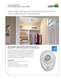 leviton 9864 led closet light with occupancy sensor ajb sales
